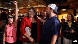 Christine Hallquist et ses partisans, Burlington, le 14 août 2018