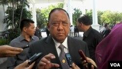 Kepala BIN, Marciano Norman di Istana Negara, Jakarta (14/7). Marciano Norman berharap menjelang dan setelah pengumuman hasil Pilpres 2014 oleh KPU pada 22 Juli nanti situasi politik tetap aman (Foto:VOA/Andylala).