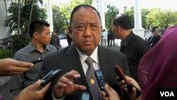 Kepala BIN Marciano Norman di Istana Negara, Jakarta (VOA/Andylala). Marciano Norman akan segera berakhir masa jabatannya dan Presiden Jokowi menominasikan Sutiyoso untuk menjadi Kepala BIN yang baru.