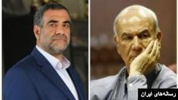 از راست بهرام افشارزاده و رضا حسنیخو مدیران سابق و فعلی استقلال