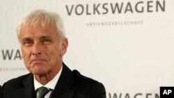 Le nouveau patron de Volkswagen Matthias Mueller, Allemagne, en septembre 2015. Source : AP
