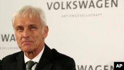 CEO baru Volkswagen, Matthias Mueller di Wolfsburg, Jerman hari Jumat (25/9).