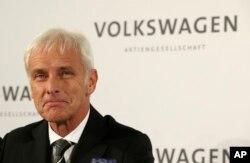 Newly appointed Volkswagen CEO Matthias Mueller in Wolfsburg, Germany, Sept. 25, 2015,