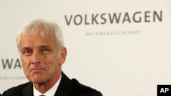 FILE - Volkswagen CEO Matthias Mueller is making his first U.S. visit since the emissions scandal erupted in September.