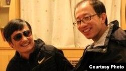 今年5月胡佳和陈光诚在北京会面