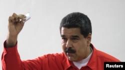 Prezidan Venezuelyen an, Nicolas Maduro. Karakas Venezuela, 30 jiyè 2017.