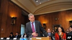 Ambassador Robert Ford appears before a committee hearing on his nomination to be ambassador to Syria in Washington, DC, 16 Mar, 2010