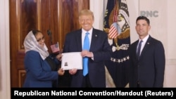 Sudanese and Ghanaian immigrants become US citizens at White House naturalization ceremony