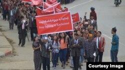 ေဒသခံခ်င္းျပည္သူေတြကေန ဆႏၵေဖၚထုတ္(The Hakha Post)