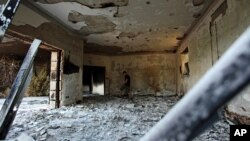 Τα ερείπια του αμερικανιού Προξενείου στην Βεγγάζη της Λιβύης