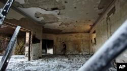 ສະຖານກົງສຸນສະຫະລັດ ທີ່ໄດ້ຮັບຄວາມເສຍຫາຍ ຢູ່ເມືອງ Benghazi ປະເທດລີເບຍ (2 ຕຸລາ 2012)