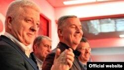 Potpredsjednik i predsjednik DPS-a, Duško Marković i Milo Đukanović (rtcg.me)