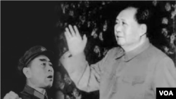 毛泽东和周恩来在文革中。毛泽东评水浒批宋江,影射周恩来