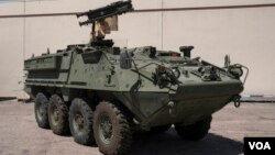 Stinger-ის გამშვები Stryker-ის ტიპის ჯავშანმანქანაზე