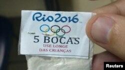 کوکین کے پکڑے گئے پیکٹ کی شناخت چھپانے کیلئے اس پر اولمپکس کا نشان اور 'بچوں سے دور رکھیں' کا انتباہ درج تھا۔