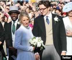 Ellie Goulding pada acara pernikahannya dengan Caspar Jopling tahun 2019 (foto: dok).