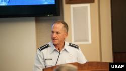 美國空軍參謀長古德芬上將(General David Goldfein)主持印太地區空軍指揮官研討會(美國空軍照片)