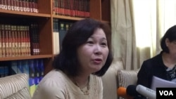 台湾日本关系协会代理秘书长张淑玲(美国之音记者申华 拍摄)