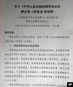 王兆国关于刑法修正案的说明稿