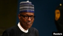 FILE - Nigerian President Muhammadu Buhari, shown addressing the United Nations General Assembly last September, reportedly wants to negotiate for the release of 110 abducted girls.