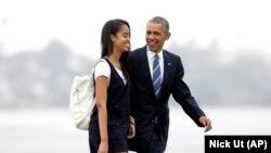 آقای اوباما و دخترش