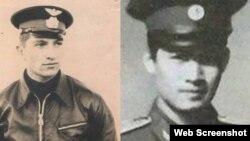 Đại úy Liên xô Yuri Poyarkovphi và phi công Việt Nam Cống Phương Thảo. Photo VTC News.