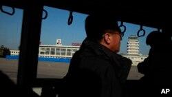 북한 평양 공항 터미널. (자료사진)