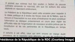 Déclaration de Joseph Kabila-2e page