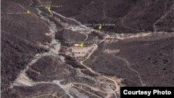 Imagen satelital de Punggye-ri, el sitio de pruebas nucleares norcoreanas, proporcionada por el grupo 38 North.