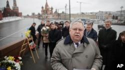 Джон Теффт (в центре). Москва, Россия. 27 февраля 2017 г.