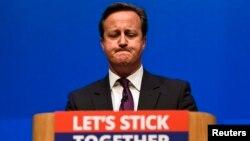 Thủ tướng Anh David Cameron phát biểu tại Aberdeen, Scotland, 15/9/2014.