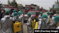 کابل ښار کې د مکروب ضد دوا پاشي هڅې