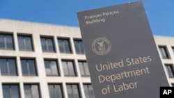 The US Department of Labor Building on March 26, 2020, in Washington. OSHA is a small agency within the Department of Labor that has struggled to respond to the pandemic.