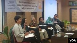 Seminar internasional reformasi hukum keluarga Islam di Jakarta hari Rabu 11/7. (Foto: VOA/Fathiyah)