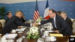 Obama y Hollande se encontraron durante la Cumbre del G-20, en Rusia, el año pasado.