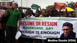 Zanga zangar kiran Buhari ya sauka