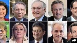 프랑스 대선에 출마하는 10명의 후보들