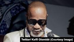 Le chanteur congolais Koffi Olomidé, 1er avril 2018. (Twitter/ Koffi Olomidé)