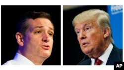 Ted Kruz i Donald Tramp