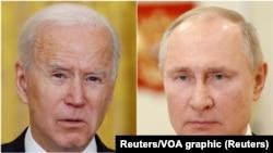 Joseph Biden i Vladimir Putin, predsjednici SAD i Rusije (Reuters)