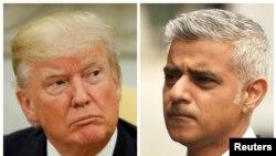 Shugaban Amurka Donald Trump da Magajin birnin London, Sadiq Khan.