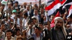 2015年6月14日什叶派胡塞叛军集会抗议沙特空袭