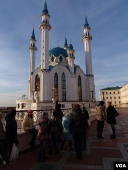 鞑靼斯坦首府喀山市中心的清真寺