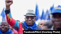 Lugi Gizenga, mwana ya Antoine Gizenga mpe mokambi ya PALU, na Kinshasa, RDC, 5 septembre 2016. (Facebook/PALU)