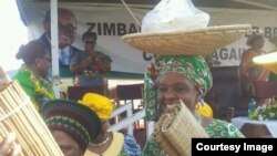 Zimbabwe First Lady Grace Mugabe has been addressing provincial rallies in her so-called meet the people tour, (File: Zanu PF photo)