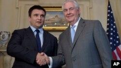 Павел Климкин с госсекретарем США Рексом Тиллерсоном