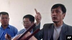Ông Hướng Nam Phu bị bắt vì phát tán 'những truyện bịa đặt' trên trang mạng Bác Tân (Bosun).