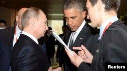 Президент России Владимир Путин и президент США Барак Обама. Пекин. Китай. 11 ноября 2014 г.