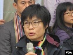 台湾人权公约施行监督联盟执行长黄怡碧(美国之音张永泰拍摄)