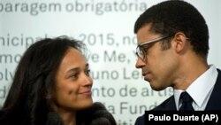Isabel Dos Santos na molongani wa Sindika Dokolo na Porto, Portugal, 5 mars 2015